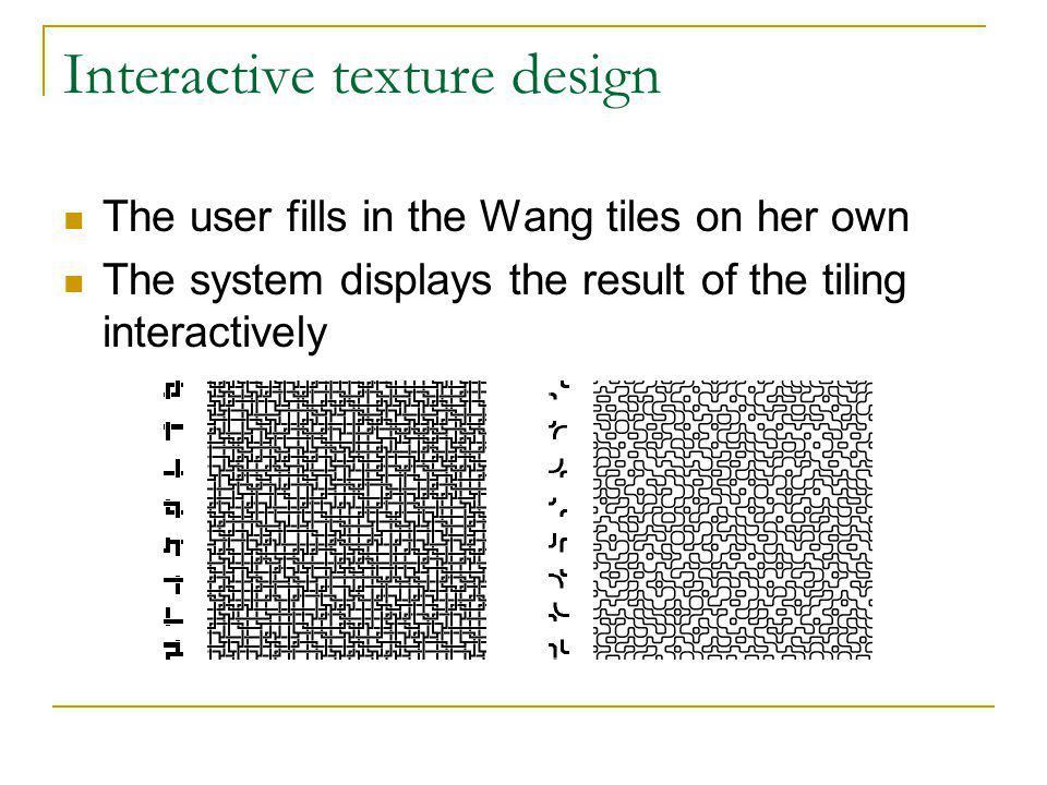 Interactive texture design