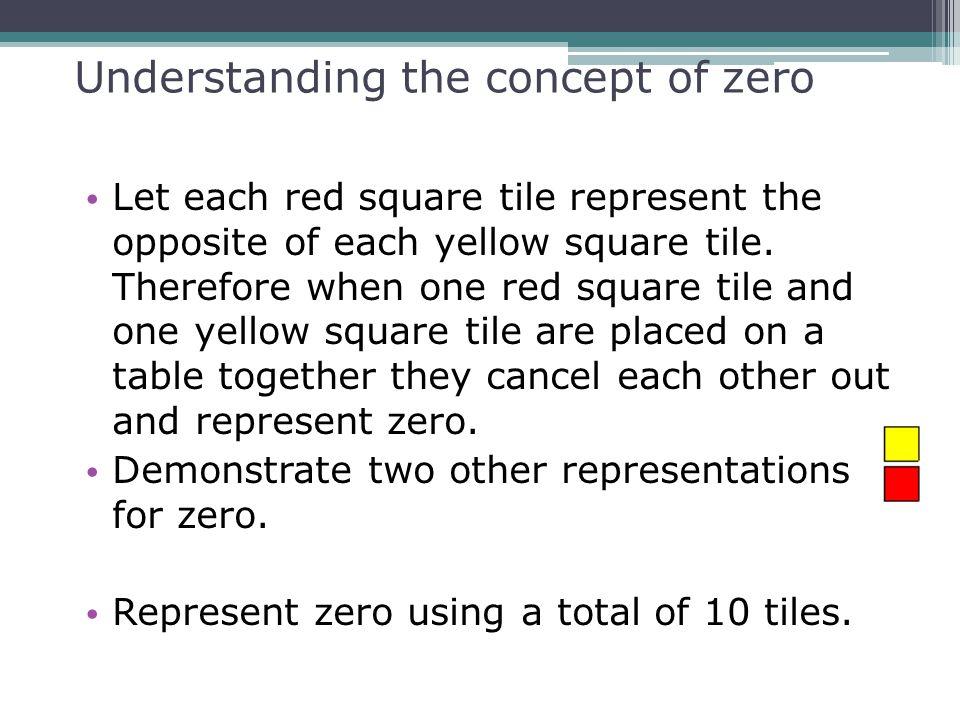 Understanding the concept of zero