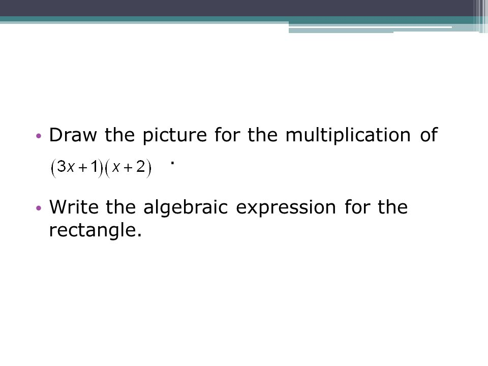 Draw the picture for the multiplication of .