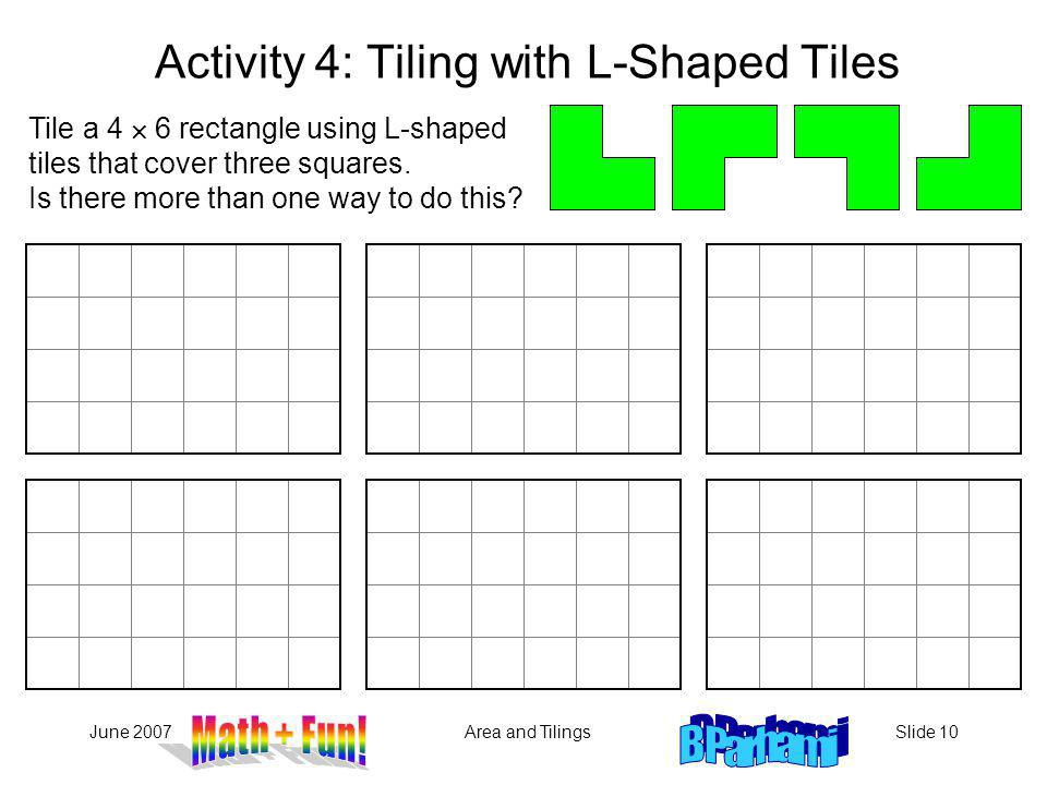 Activity 4: Tiling with L-Shaped Tiles