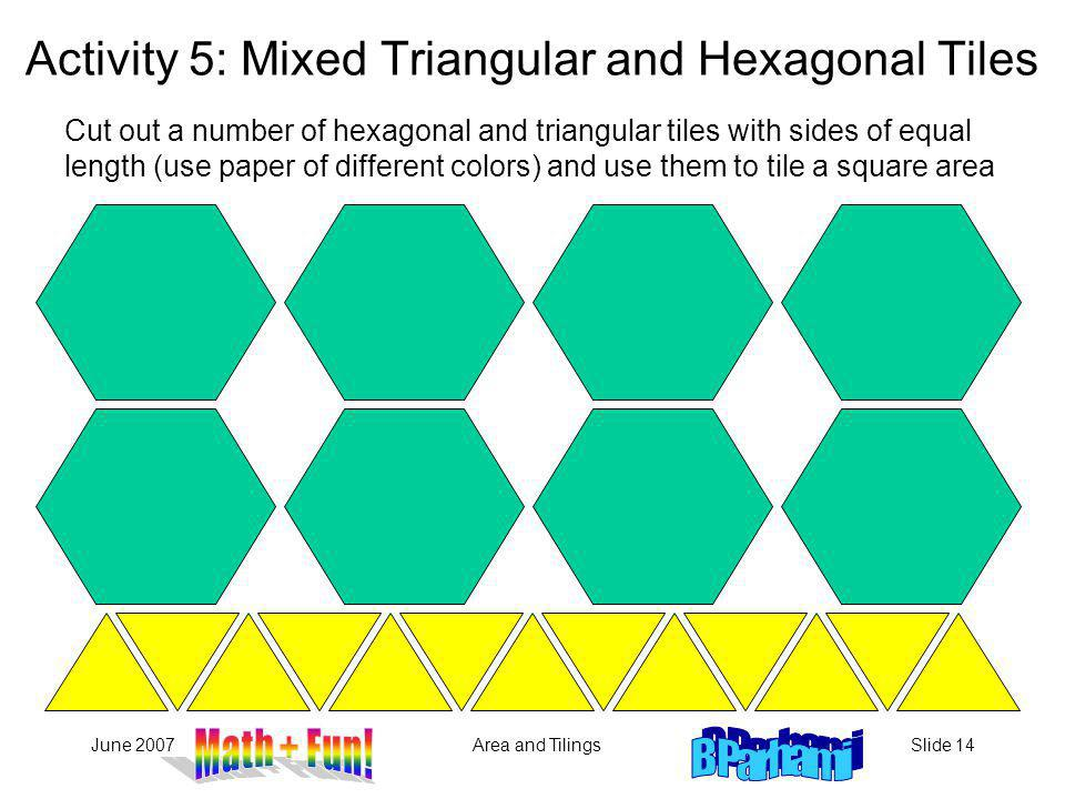 Activity 5: Mixed Triangular and Hexagonal Tiles