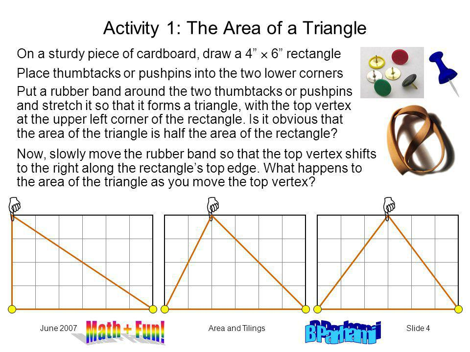 Activity 1: The Area of a Triangle