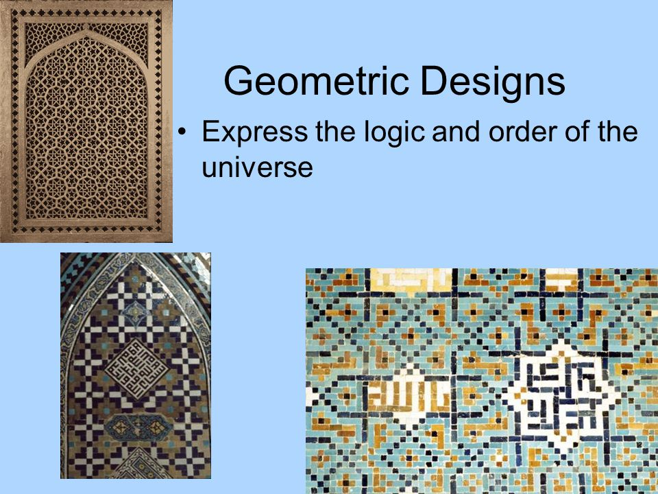 Geometric Designs Express the logic and order of the universe