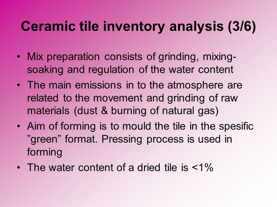 Ceramic tile inventory analysis (3/6)