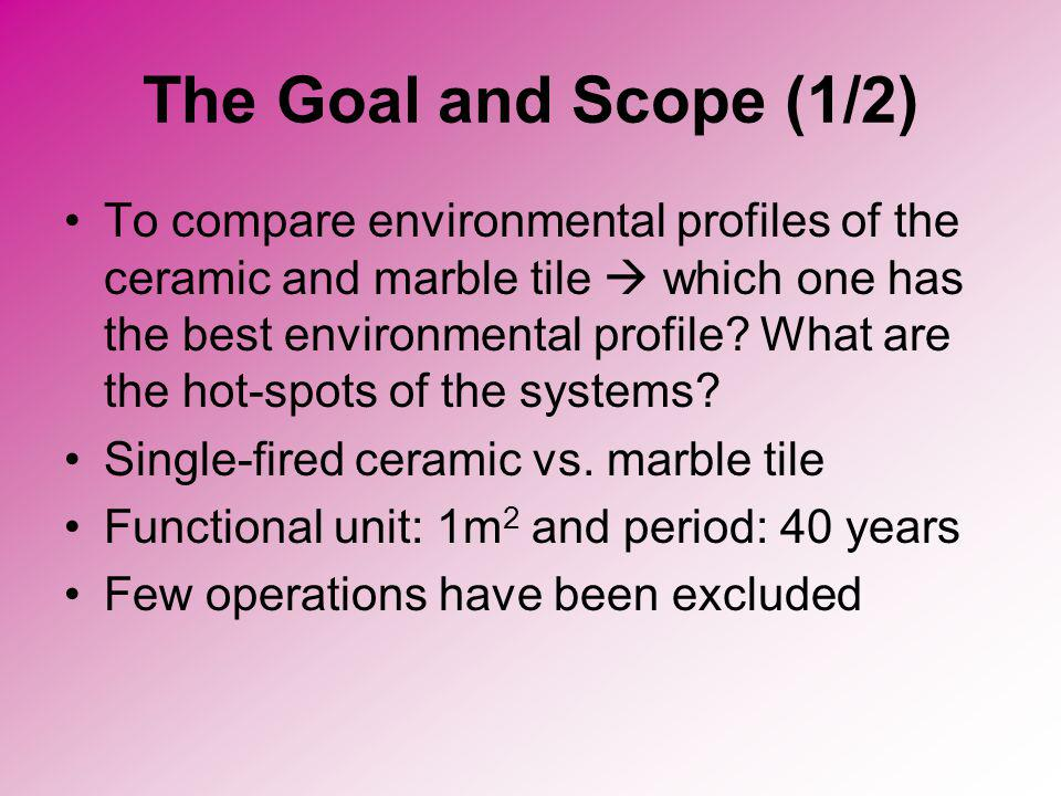 The Goal and Scope (1/2)
