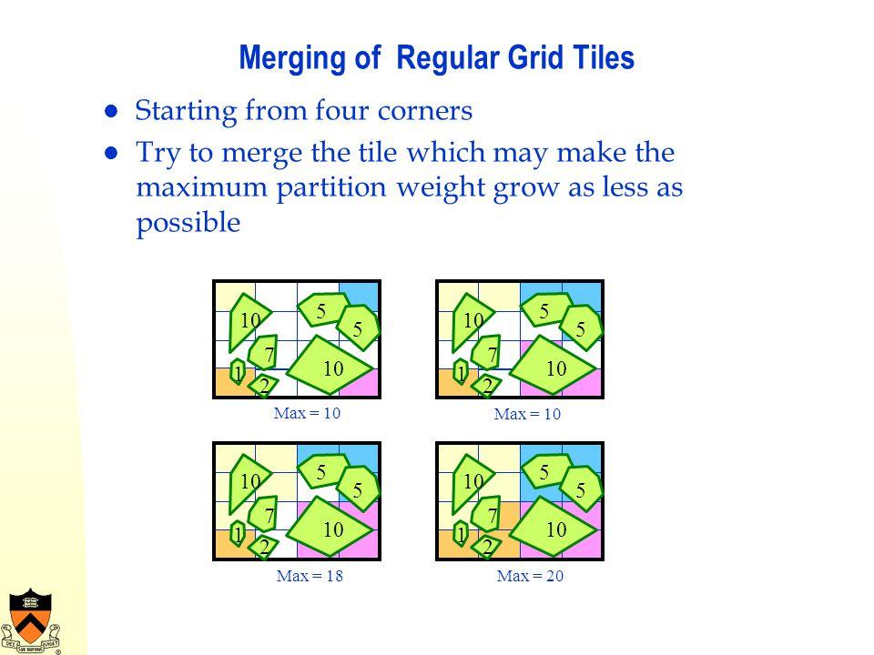 Merging of Regular Grid Tiles
