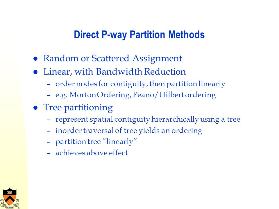 Direct P-way Partition Methods