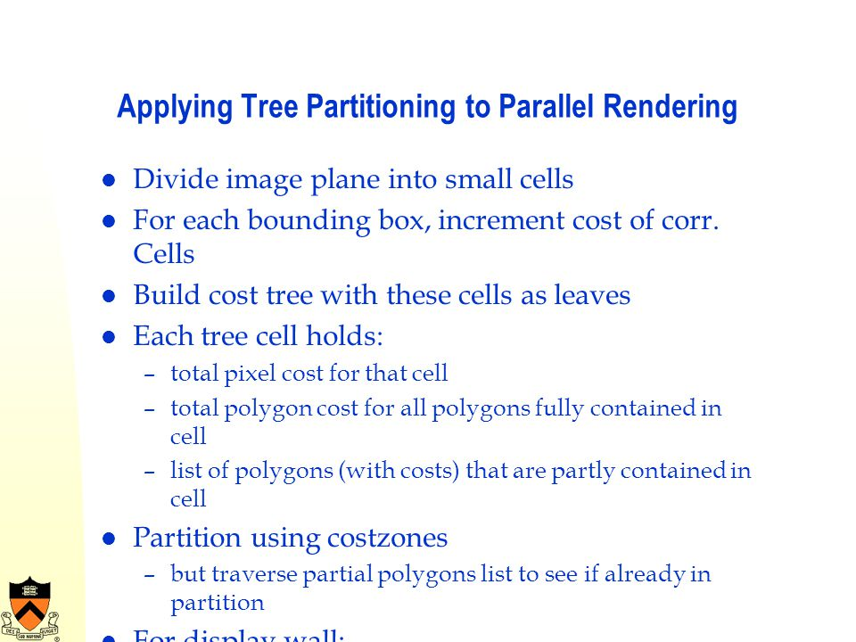 Applying Tree Partitioning to Parallel Rendering