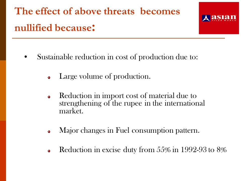 The effect of above threats becomes nullified because: