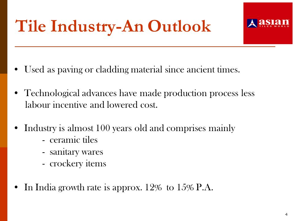 Tile Industry-An Outlook
