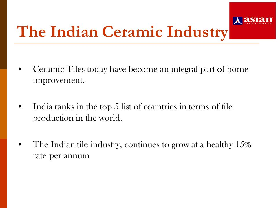 The Indian Ceramic Industry
