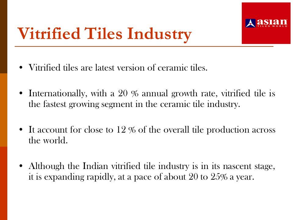 Vitrified Tiles Industry