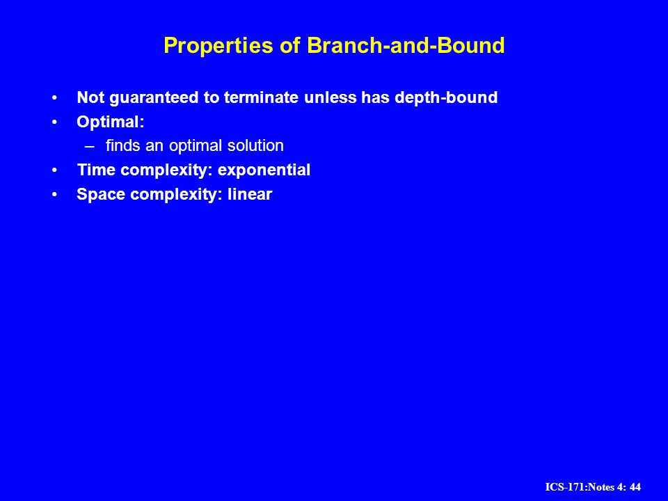 Properties of Branch-and-Bound