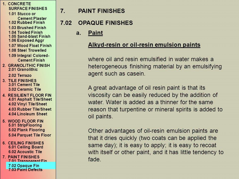 Alkyd-resin or oil-resin emulsion paints