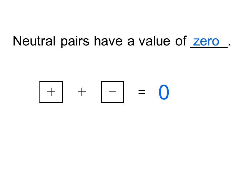 Neutral pairs have a value of _____.