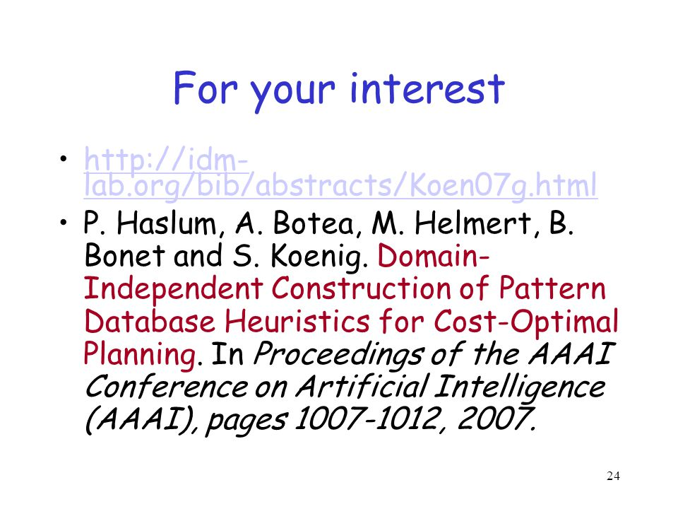 For your interest http://idm-lab.org/bib/abstracts/Koen07g.html