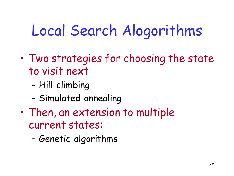 Local Search Alogorithms
