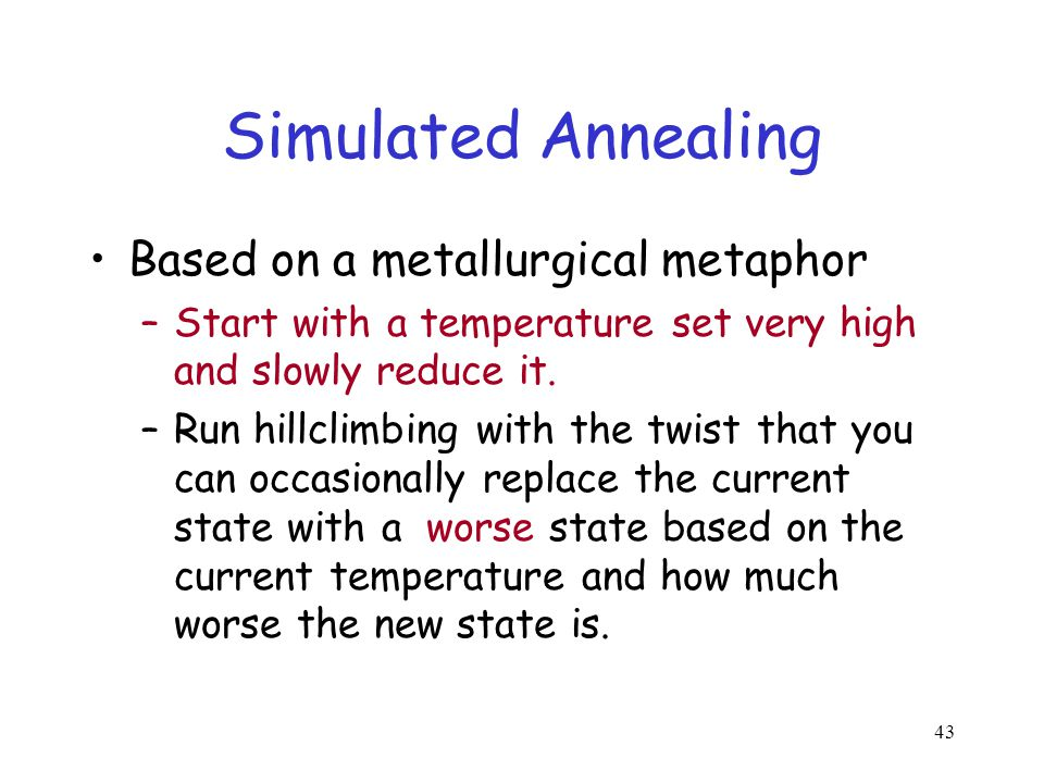 Simulated Annealing Based on a metallurgical metaphor