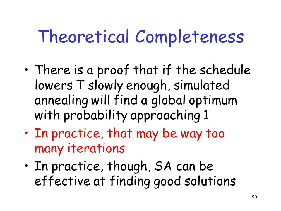 Theoretical Completeness
