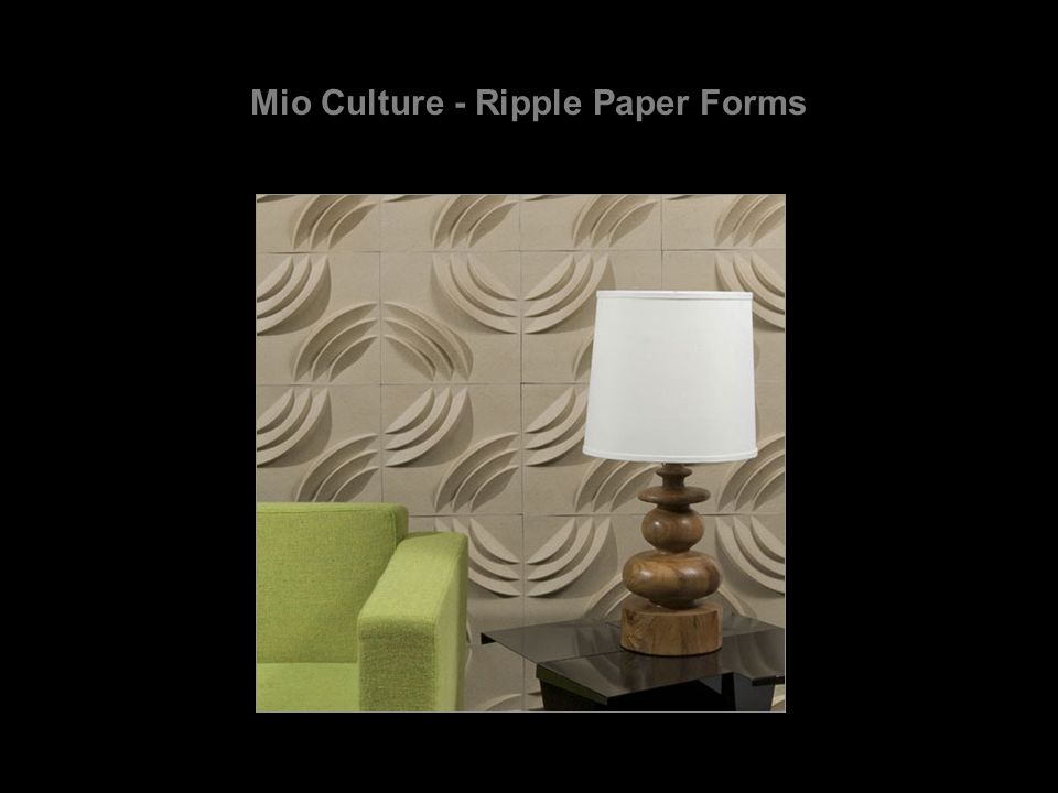 Mio Culture - Ripple Paper Forms