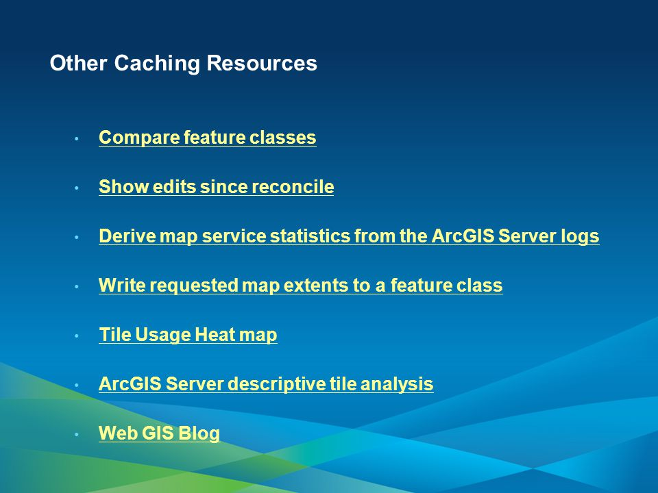 Other Caching Resources