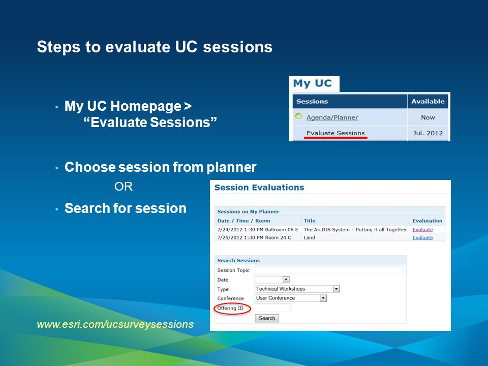 Steps to evaluate UC sessions
