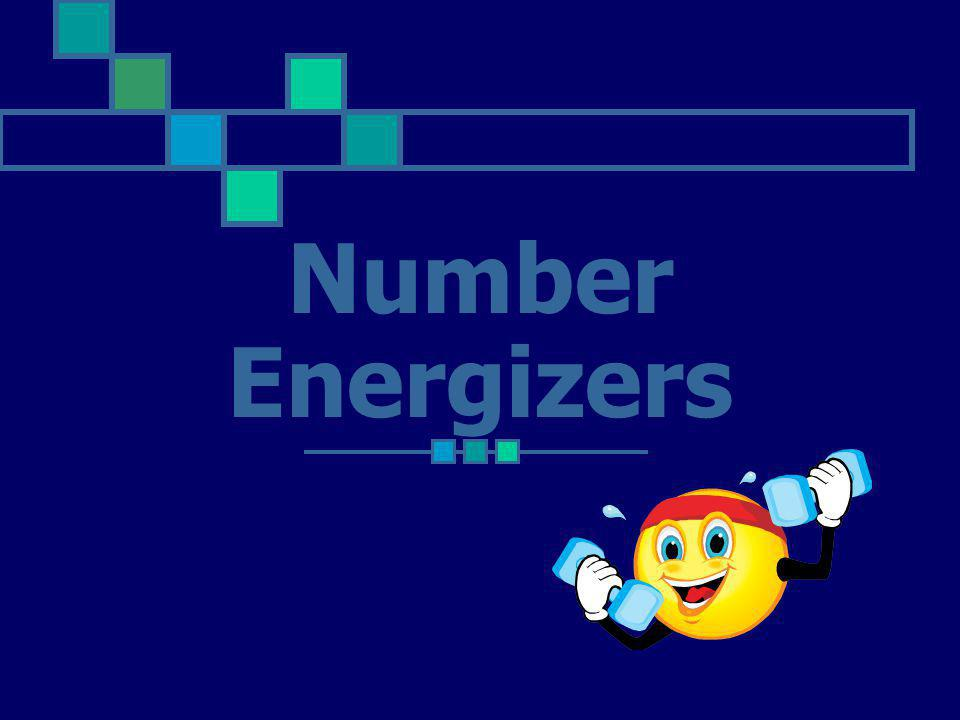 Number Energizers