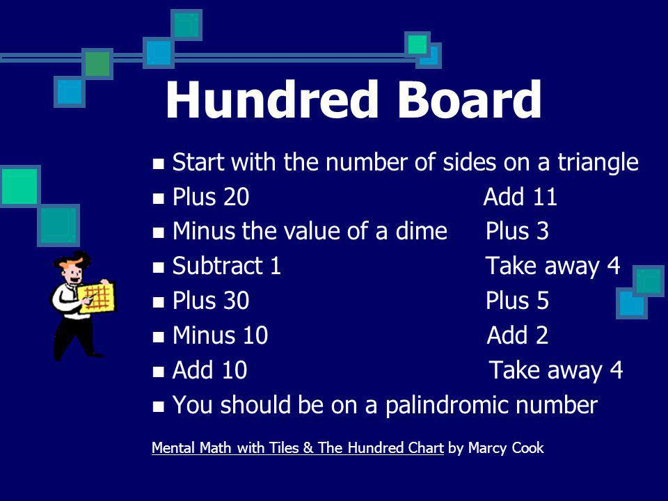 Hundred Board Start with the number of sides on a triangle