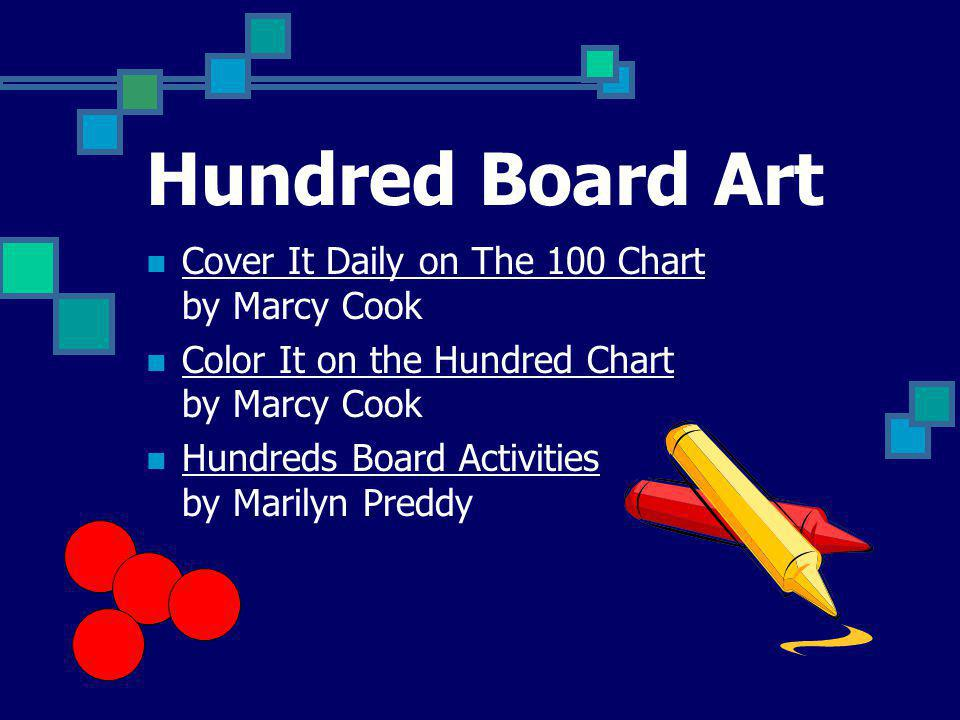 Hundred Board Art Cover It Daily on The 100 Chart by Marcy Cook