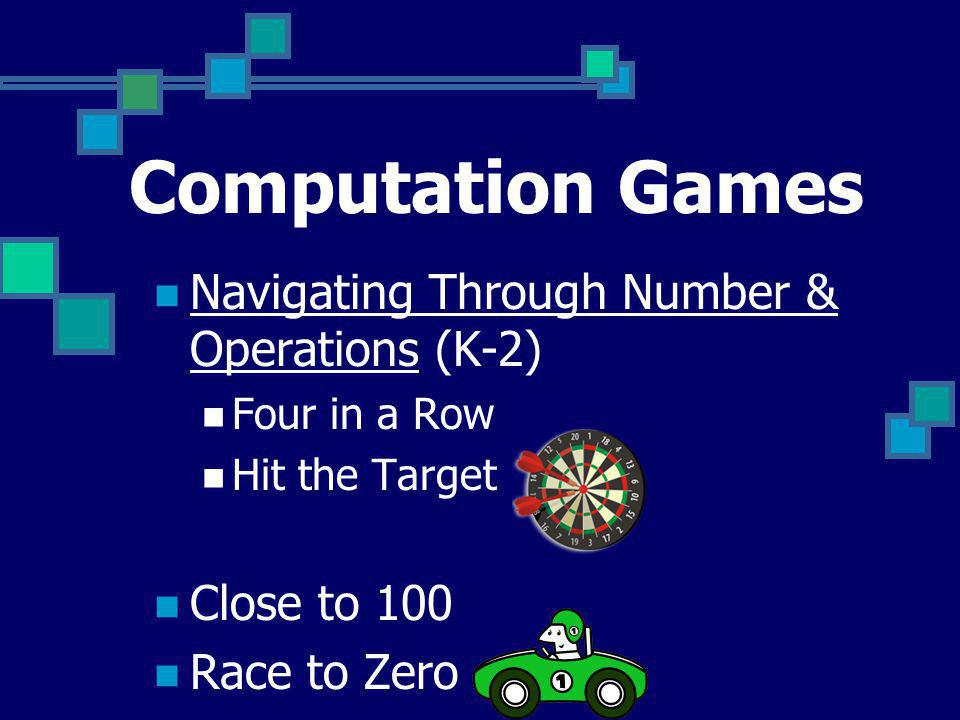 Computation Games Navigating Through Number & Operations (K-2)