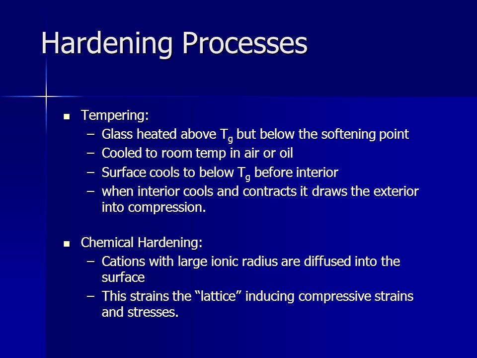 Hardening Processes Tempering: