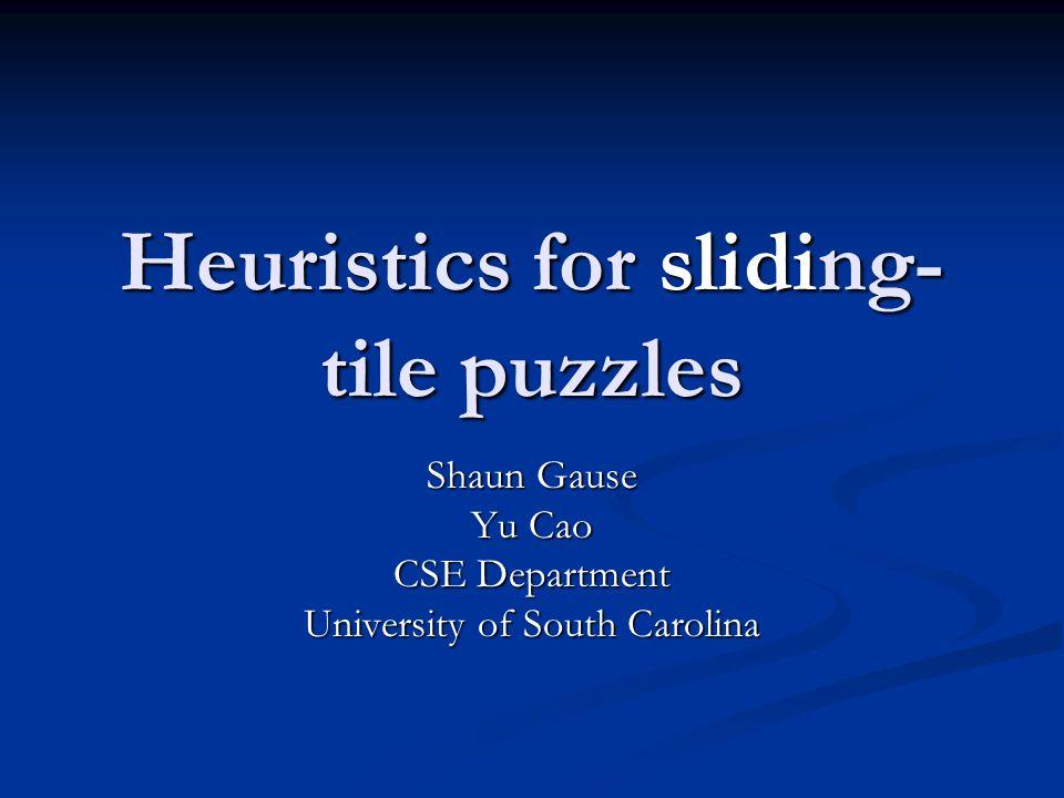 Heuristics for sliding-tile puzzles