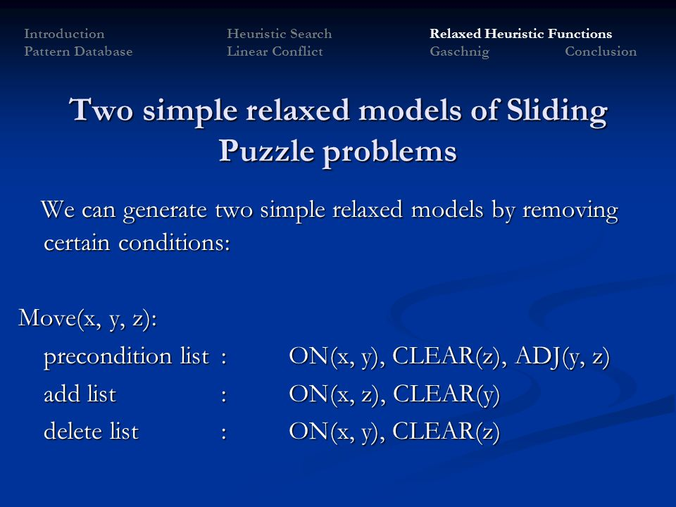 Two simple relaxed models of Sliding Puzzle problems