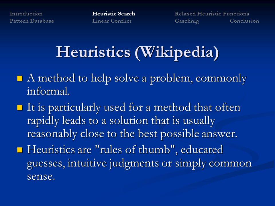 Heuristics (Wikipedia)