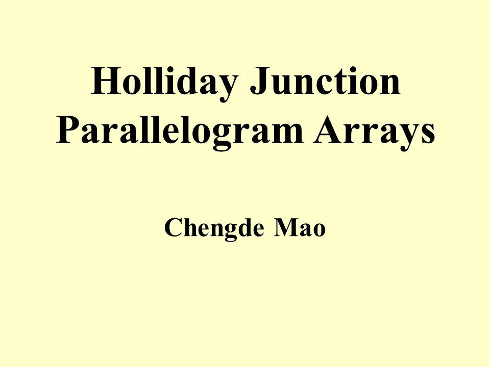 Holliday Junction Parallelogram Arrays