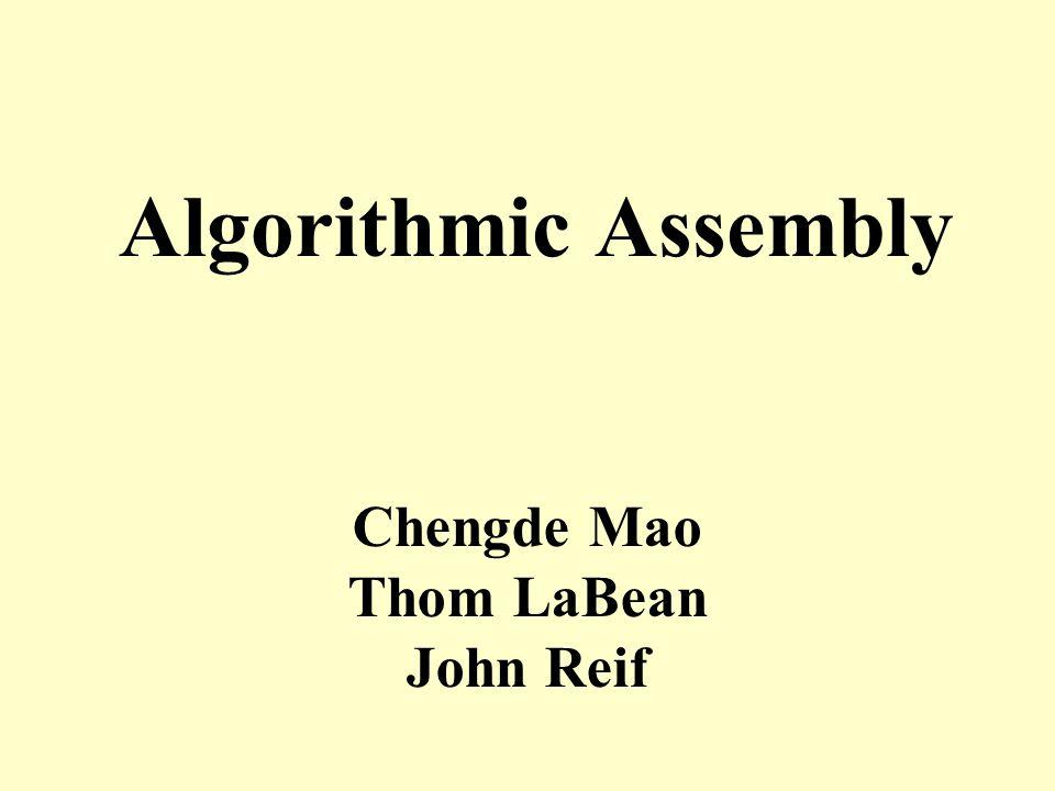 Algorithmic Assembly Chengde Mao Thom LaBean John Reif