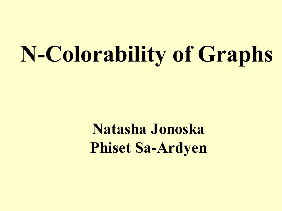 N-Colorability of Graphs