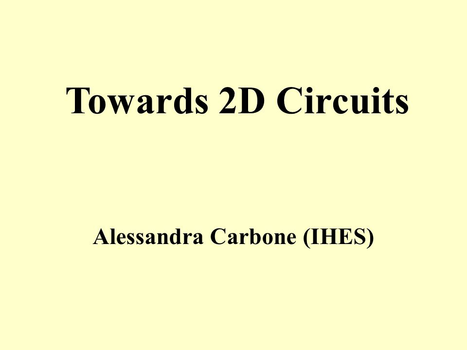 Alessandra Carbone (IHES)