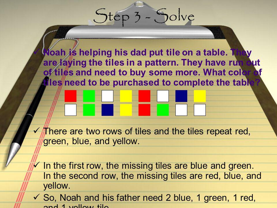 Step 3 - Solve