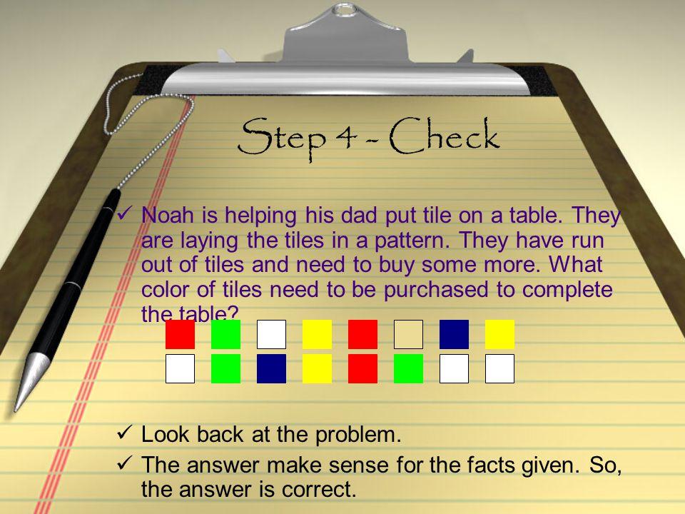 Step 4 - Check
