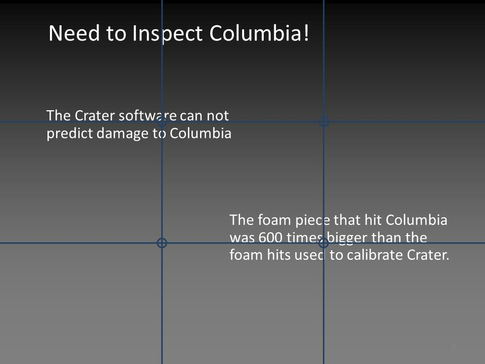 Recommend Immediate Visual Inspection of Columbia
