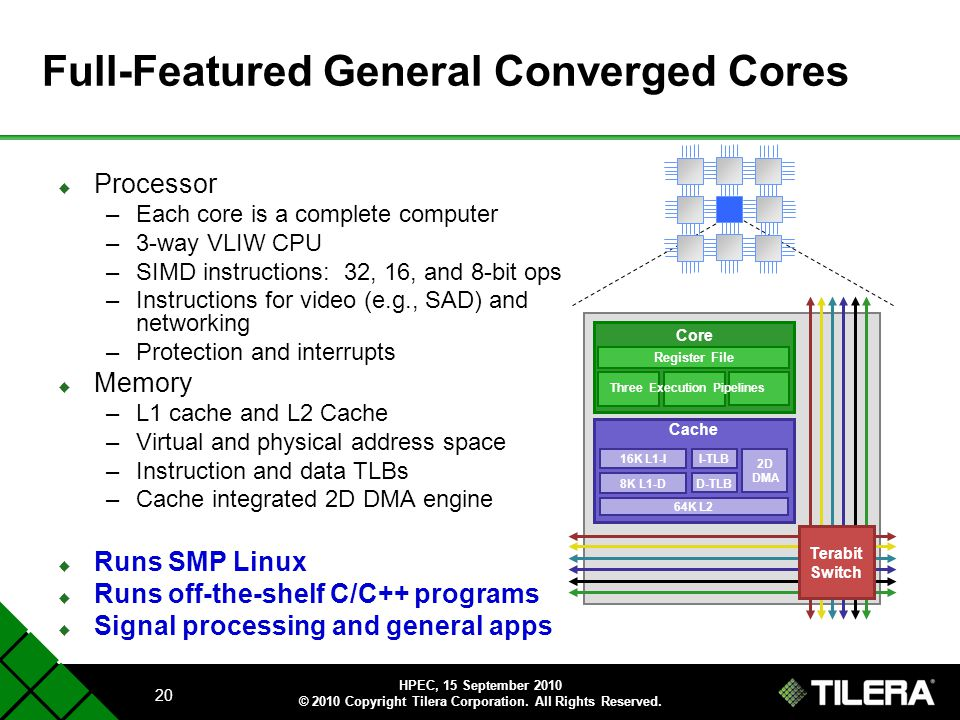 Full-Featured General Converged Cores
