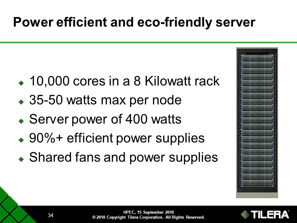 Power efficient and eco-friendly server