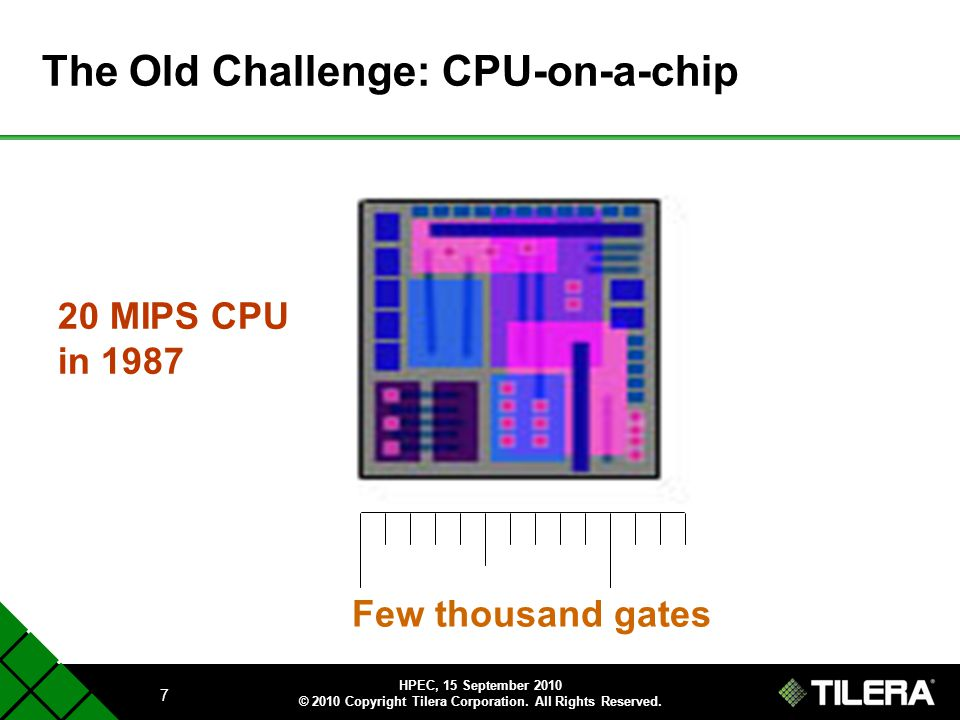 The Old Challenge: CPU-on-a-chip