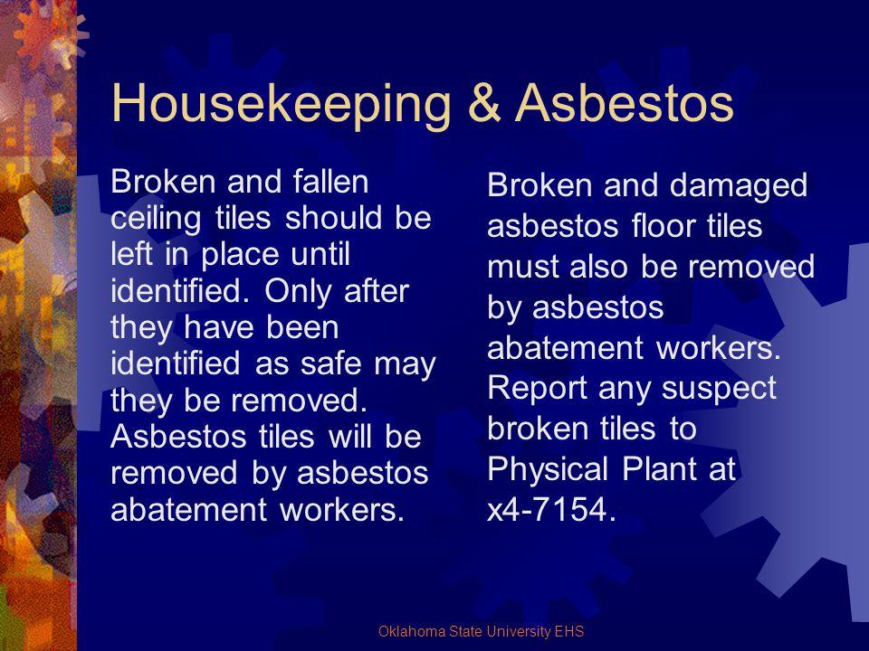 Housekeeping & Asbestos