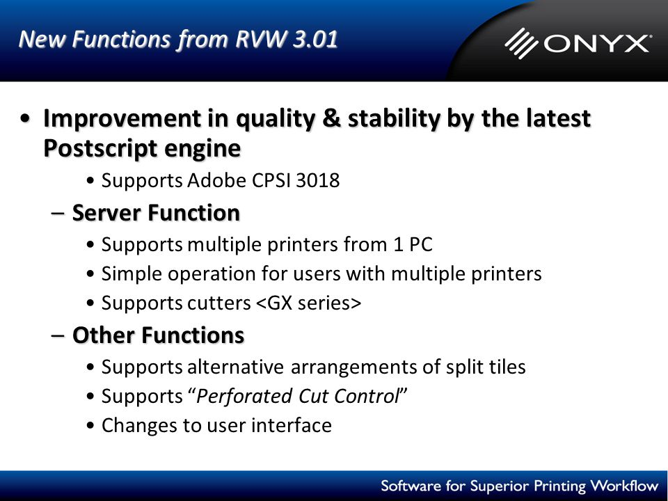 Improvement in quality & stability by the latest Postscript engine