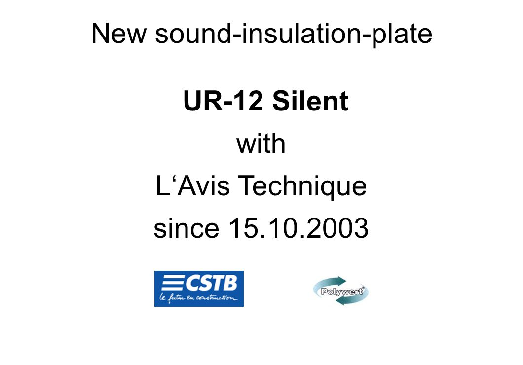 New sound-insulation-plate