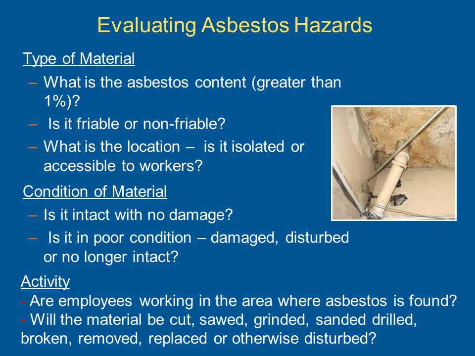 Evaluating Asbestos Hazards