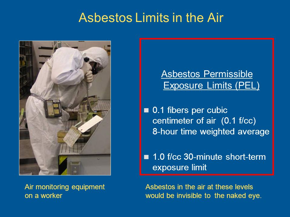 Asbestos Limits in the Air