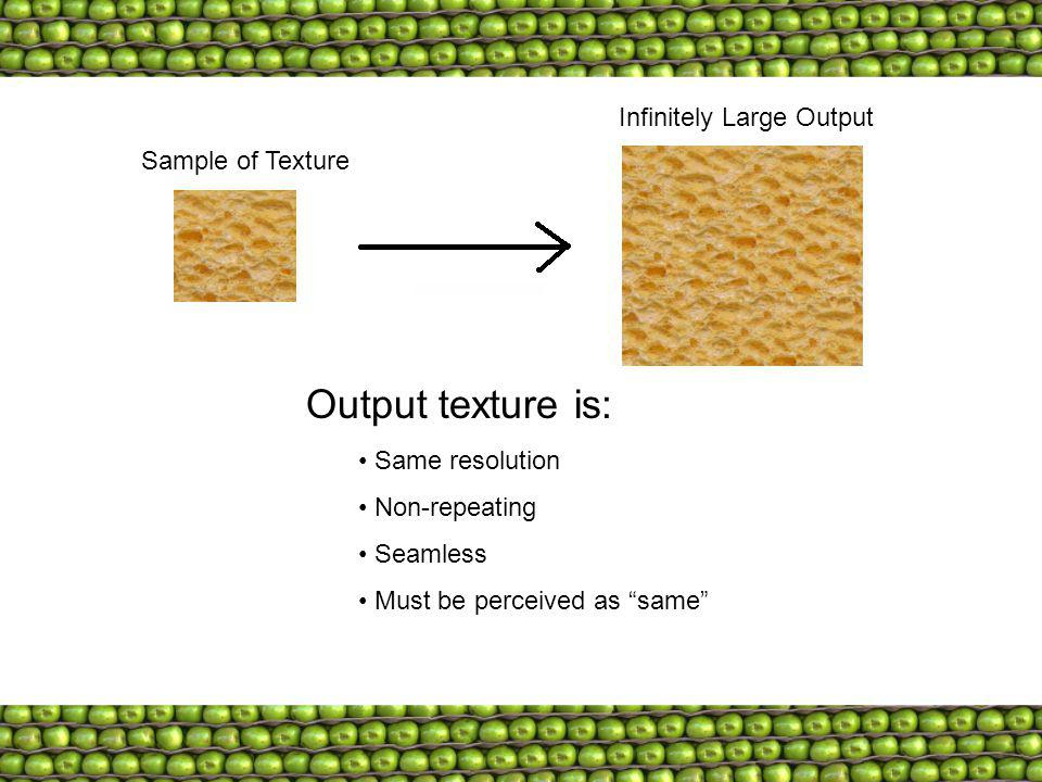 Output texture is: Infinitely Large Output Sample of Texture